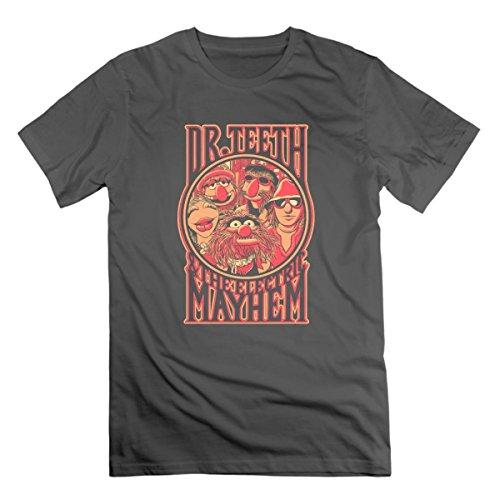 HEXUN Men's Electric Mayhem Fashion Funny T-Shirt X-Large DeepHeather
