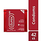 Durex (red) Condom Extra Sensitive, 42 Count - Ultra Fine & Extra Lubricated