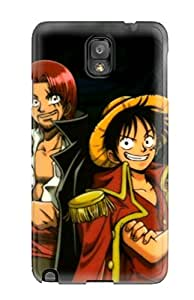 Nannette J. Arroyo's Shop Best 9261953K93528626 Tpu Case Cover For Galaxy Note 3 Strong Protect Case - Shanks And Luffy Desktop Design