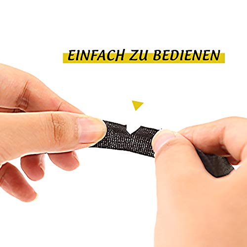 HAKACC Isolierband Schwarz, 4 Stück Gewebeband Electrical Tape zum Isolieren Reparatur Elektrisches Klebeband 15 mm x 15 m
