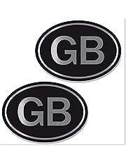 Biomar Labs® 2 stuks zilver vinyl groot Verenigd Koninkrijk GB Great Britain Engeland UK vlag sticker autosticker auto moto motorfiets helm raam tuning B 258