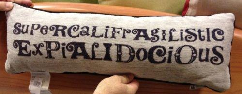 Disney Park Mary Poppins Decorative Toss Pillow Decorator