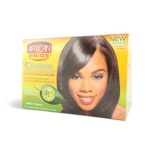 African Pride No Lye Relaxer Kit, Regular (Pack of 2) ()