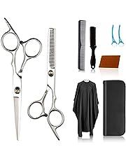 Hair Cutting Scissors Kits Hairdressing Scissors Set,Stainless Steel Hairdressing Scissors Suitable for Barber/Salon/Home/Men/Women/Children