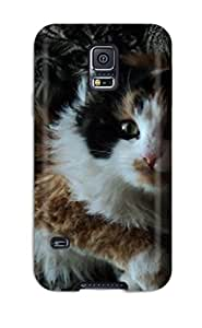 First-class Case Cover For Galaxy S5 Dual Protection Cover Cat With Wild Hair