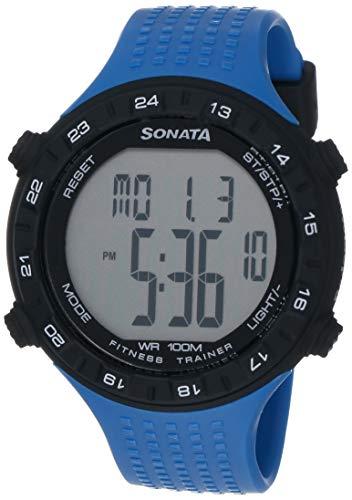 Sonata Digital Grey Dial Men #39;s Watch  NL77040PP03 / NL77040PP03