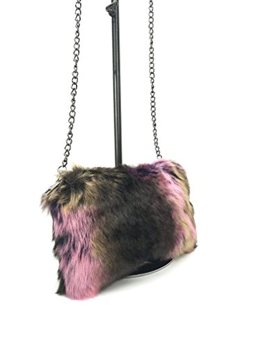 GoodCape EMMA Series faux fur ladies sling bag in black chain by Goodcape (Image #1)