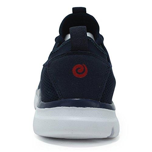 Heren Casual Sneakers Super Lichtgewicht Cormfortble Tennis Mesh Sport Easy Walking Loopschoenen Blauw