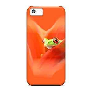 Iphone 6 plus (5.5) A Frog On Orange -durable cell phone Hd covers miao's Customization case