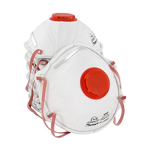 AMSTON-Dust-Masks-N99-NIOSH-Certified-Safety-Respirator-with-Valve-Box-of-10-Personal-Protective-Equipment-PPE-Ventilated-Particulate-Respirators-for-Construction-Home-Improvement-DIY-Projects