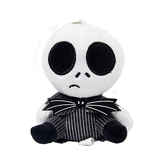 (Nightmare Before Christmas Jack Skellington Sally Plush PP Cotton Stuffed Toys (Black))