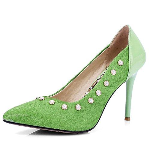 Verde cuña Sandalias Nine SevenHeels con mujer xFBwXYv