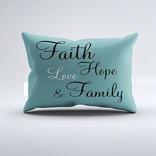 Orlando-XV Pillow - Faith Hope Love Family Pillowcase Pillow Cushion Cover Cases Single Side 20x30 by Orlando-XV