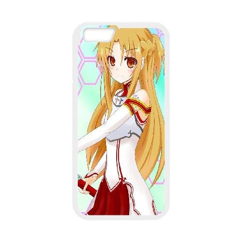 Asuna Sword Art Online coque iPhone 6 Plus 5.5 Inch Housse Blanc téléphone portable couverture de cas coque EBDOBCKCO14645