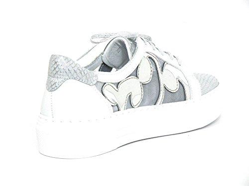 Simen Damen Schnürschuhe Weiß-Kombi (Weiß) 347A Weiß-Kombi