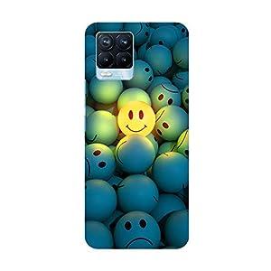 "TRUEMAGNET Premium ""Smiley Faces""' Printed Hard Mobile Back Cover for Realme 8 / Realme 8 Pro, Designer & Attractive…"
