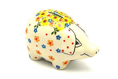 Polish Pottery Piggy Bank - Buttercup