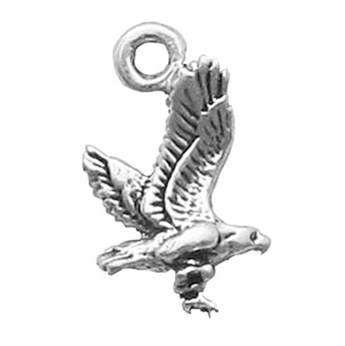 925 Sterling Silver Classic American Bald Eagle Bird Charm For Bracelet/Necklace