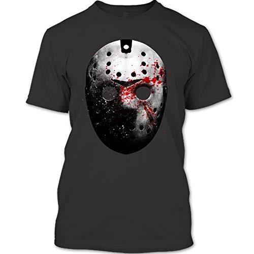Jason Voorhees Face Mask Shirt, Friday The 13th T Shirt Unisex (XL,Black) ()
