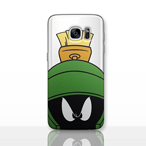 Galaxy S7 Looney Tunes Silicone Phone Case/Gel Cover for Samsung Galaxy S 7 (S7/G930) / Screen Protector & Cloth/iCHOOSE / Marvin The Martian