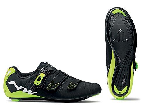 Zapatos de Ciclismo NW Phantom 2 SRS BLK/YLW