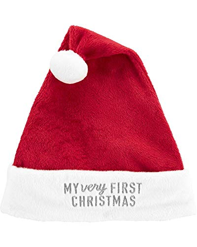 Carter's Baby My First Christmas Santa Hat,Red,3-9 Months (Hat First Baby Christmas)