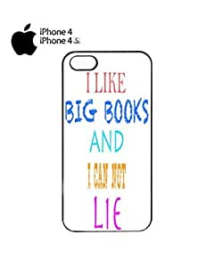 I Like Big Books and I can not Lie Mobile Cell Phone Case Cover iPhone 4&4s Black