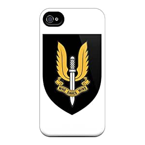 AlissaDubois Iphone 4/4s Bumper Hard Phone Cover Support Personal Customs Beautiful Army Image [VnJ7011XuLT]