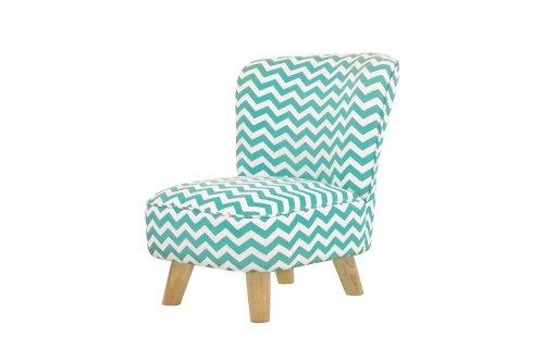 - Babyletto Pop Mini Chevron Chair, Blue/Turquoise