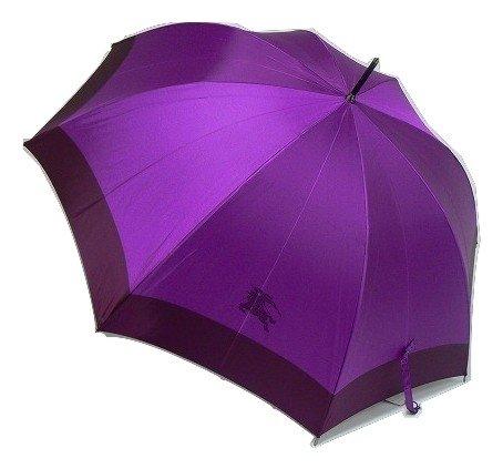 【BURBERRY】バーバリー 日本製 ホースマークデザイン婦人長傘(雨傘) 紫 B011EC26OK