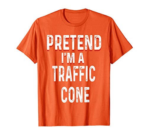 Lazy Funny Halloween Costume Shirt - Orange Traffic Cone Tee for $<!--$17.99-->