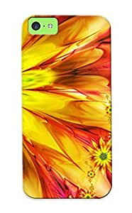 Freshmilk C1e122c6769 Case Cover Skin For Iphone 5c (bright Fractal Daisies)/ Nice Case With Appearance
