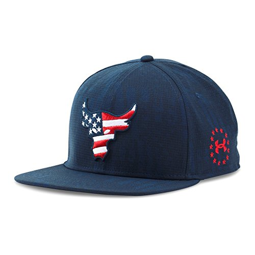 1ad4e30a403 Under Armour UA x Project Rock Freedom Snapback Cap OSFA Midnight Navy -  Buy Online in UAE.