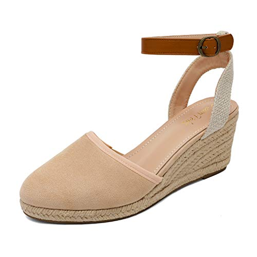 DREAM PAIRS Women's Low Wedge Sandals