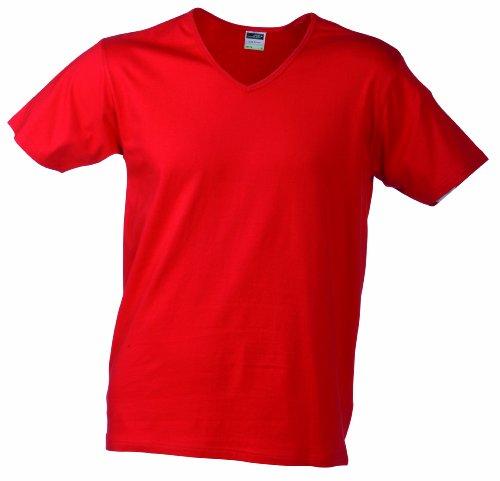 V neck amp; Uomo shirt James red T Slim Fit Nicholson Rosso w7q0fdY