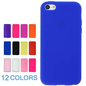 US-Trendsss Silicone Soft Cover Case for iphone5c ( Blue ) +Screen Protector