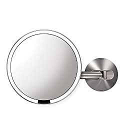 simplehuman ST3002 Motion Sensor Wall Mount Makeup Mirror