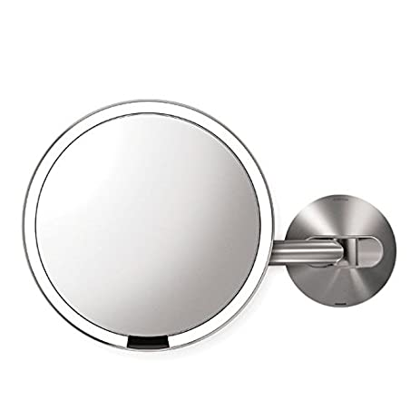 Amazon simplehuman 8 inch wall mount sensor mirror lighted simplehuman 8 inch wall mount sensor mirror lighted makeup mirror rechargeable 5x magnification audiocablefo Light database