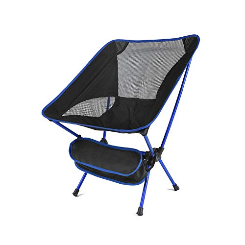 Outdoor Camping Chair Portable Ultralight Folding Superhard High Load Beach Hiking Picnic Seat,Blue