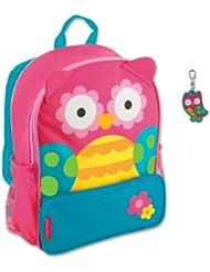 Stephen Joseph Girls Sidekick Owl Backpack with Zipper Pull - Cute Kids Bags