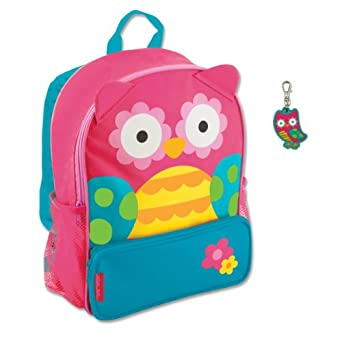 Amazon.com | Stephen Joseph Sidekick Owl Backpack with Zipper Pull ...
