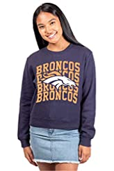 Ultra Game NFL Women's Distressed Graphi...
