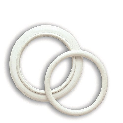 Rings Oval Section for Radiator Caps, Rings, Oval Section for Radiator 1 'Cast Iron Caps in Epdm White 75 ° Shore (Number Pieces for Pack of 10) STILLA s.r.l. a socio unico