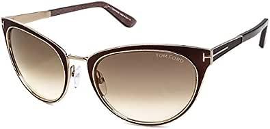 توم فورد نظارات شمسية للنساء، لون العدسة بني، FT0373