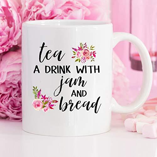 (Tea, A Drink With bread And Jam, The Sound Of Music Mug, 11 oz Ceramic Mug, Teacup Mug, Coffee Mug, 50th Anniversary, Parent Gift Mother)