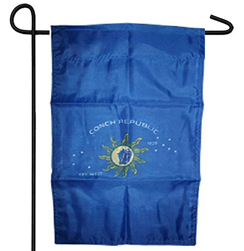 ALBATROS Key WEST Florida Conch Republic 1828 12 inch x 12 inch Garden Banner Flag Sleeved Poly for Home and Parades, Official Party, All Weather Indoors Outdoors]()