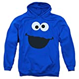 Sesame Street Cookie Monster Pull-Over Hoodie Sweatshirt & Stickers (X-Large)