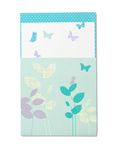 (Mara-Mi Baby Shower Butterfly Glitterette Imprintable Invitation, 10-Count (45992) )