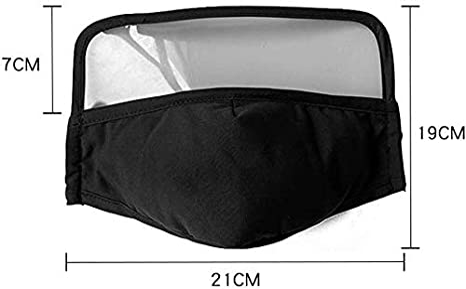 Adultos m/_ascarillas Negro Reutilizables antivaho Lavables Antipolvo Protecci/ón para Adultos