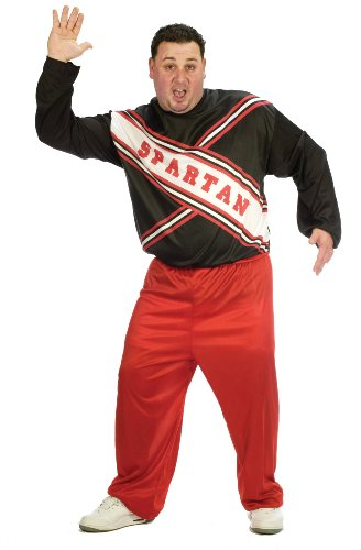 SNL Spartan Cheerleader Costume - Plus Size - Chest Size 48-53 -